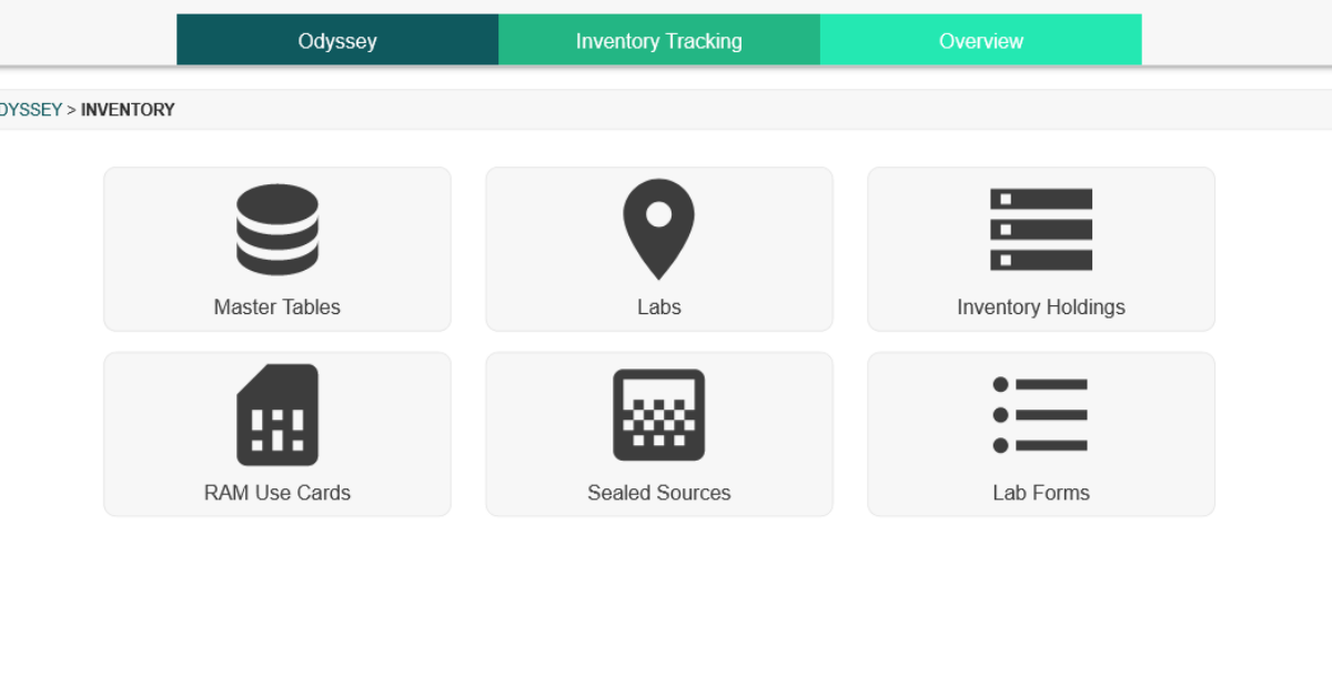 Odyssey Inventory Tracking Module
